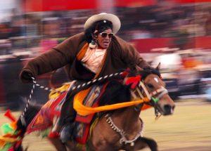 Tibetan horse rider.