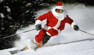 Ski Santa Shredding